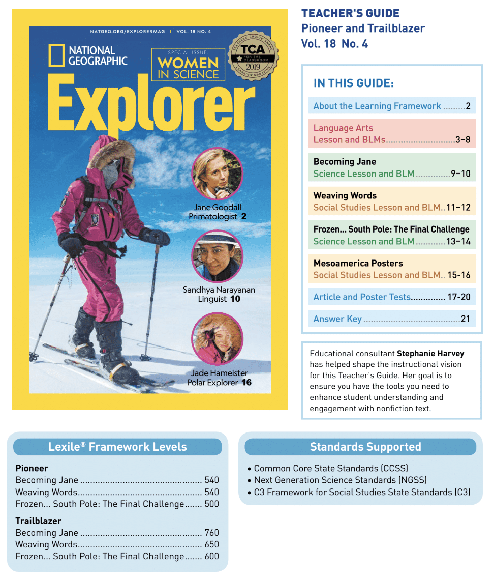 Book Cover: Explorer Classroom Magazine Teacher Guide