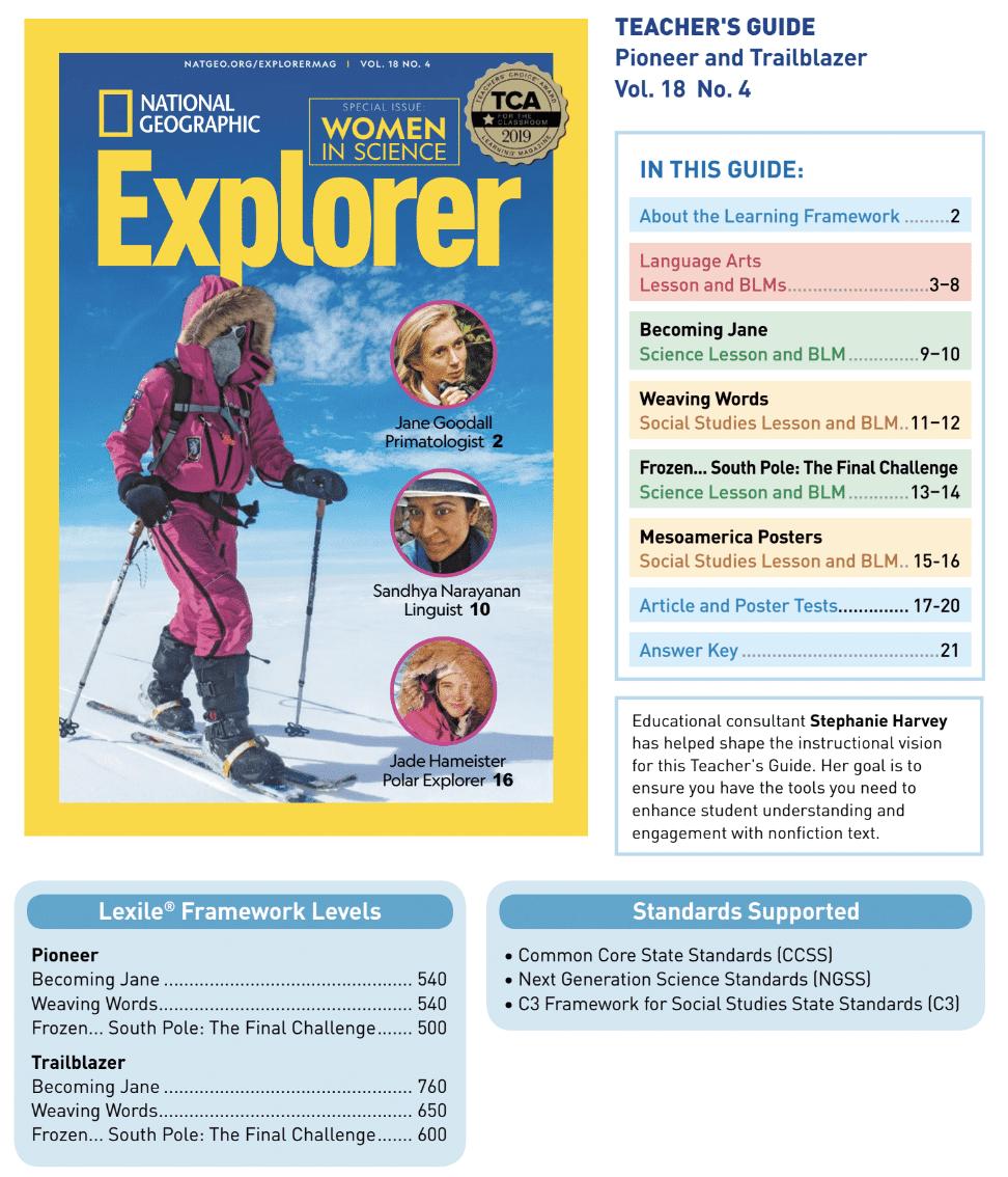 Book Cover: Explorer Classroom Magazine Teacher Guide