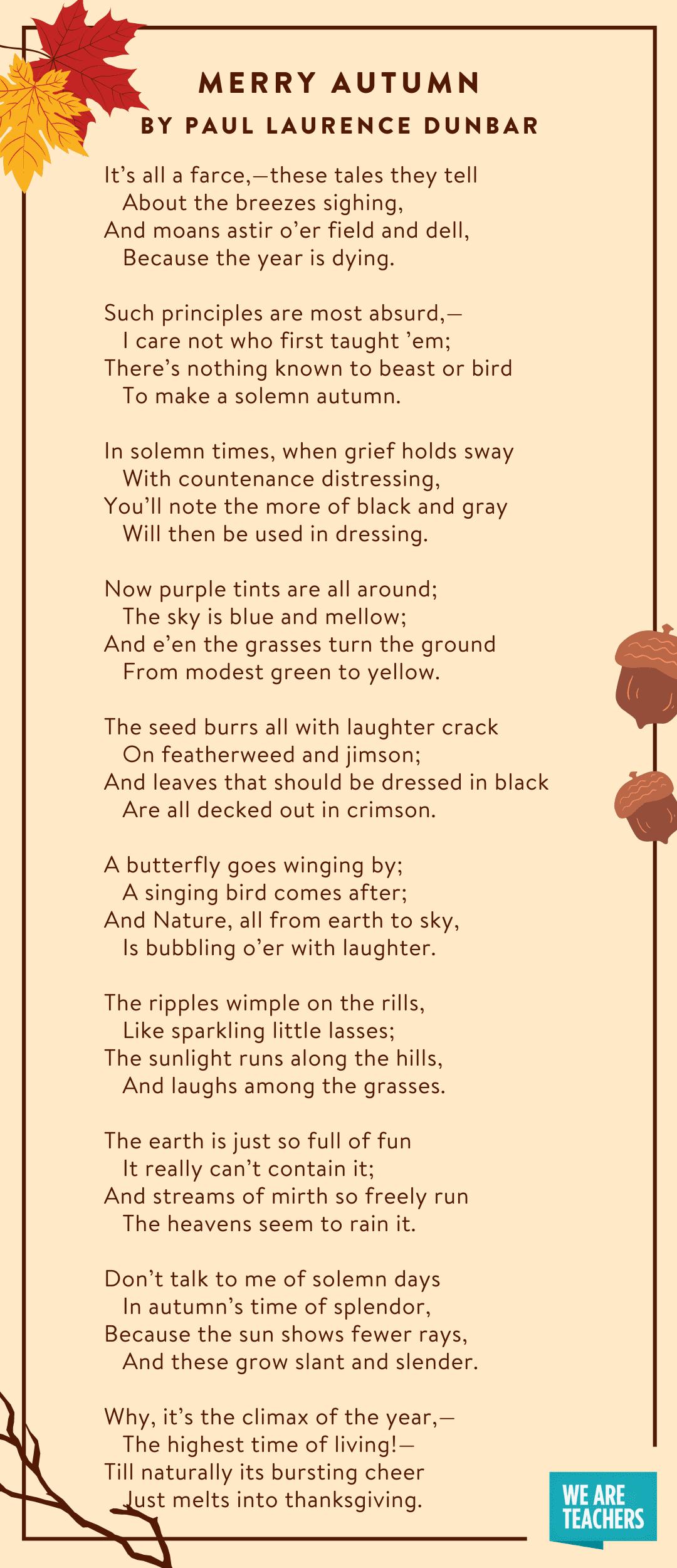 Merry Autumn fall poems