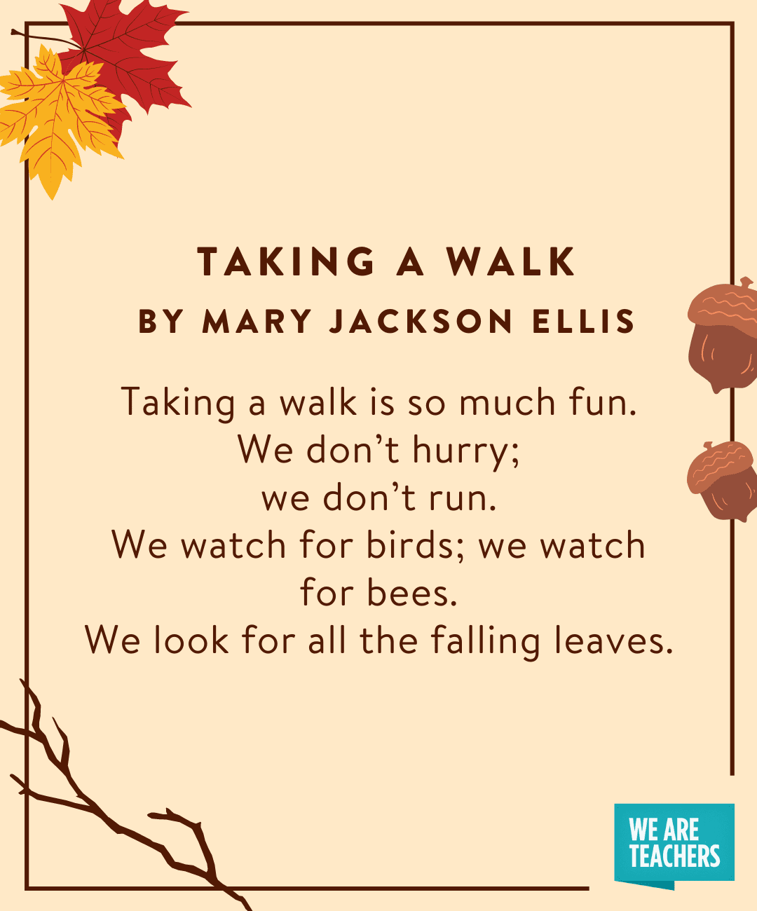 Taking A Walk - fall poems