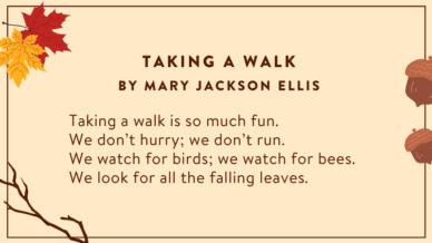 Taking A Walk poem