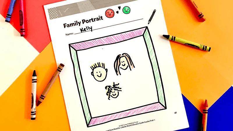 Family Portrait diversity activity for students PreK-1