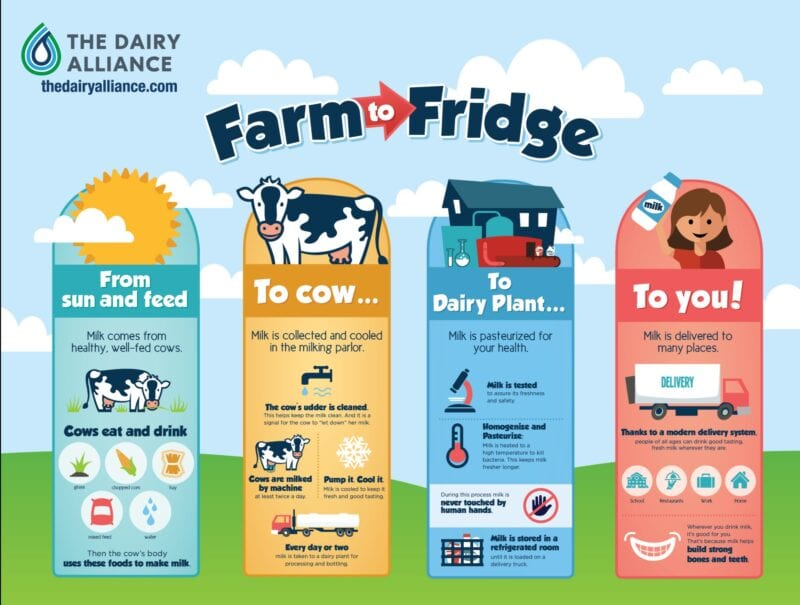 Farm to Fridge infographic
