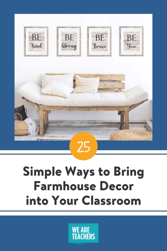 25 Simple Ways to Bring Farmhouse Decor into Your Classroom
