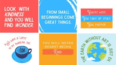 A collage of our 50 favorite classroom quotes.