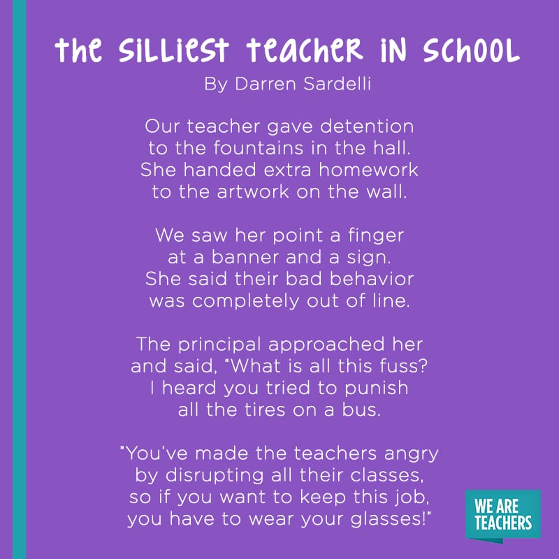 The Silliest Teacher in School poem