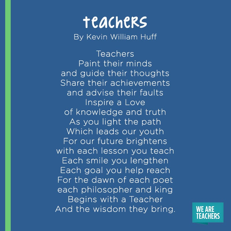 Teachers poem