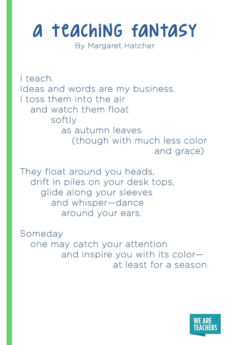 12 of Our Favorite Poems About Teaching - WeAreTeachers