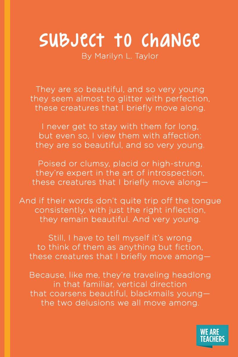 Subject to Change poem