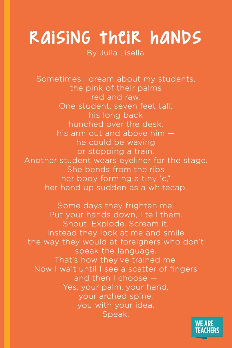 Raising Their Hands poem