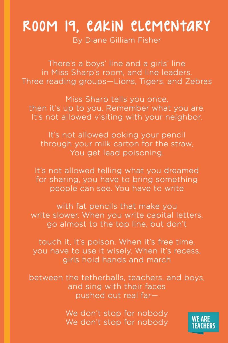 Room 19, Eakin Elementary poem