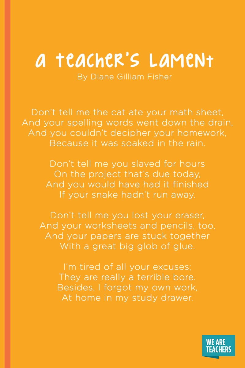 A Teacher's Lament