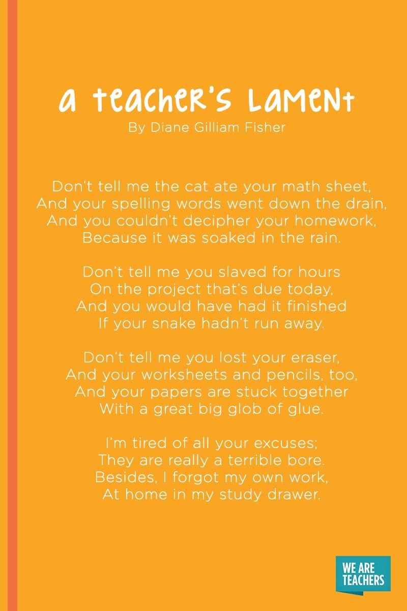 A Teacher's Lament