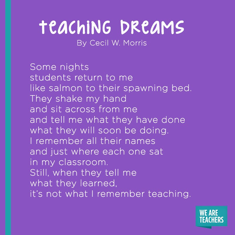 Teaching Dreams poem