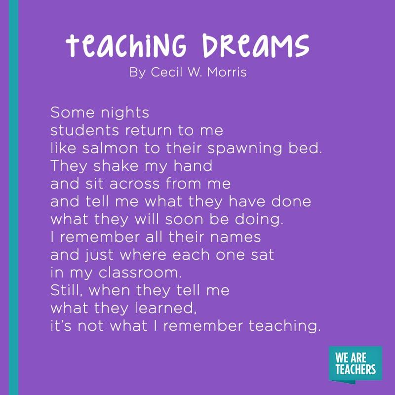 Teaching Dreams poem