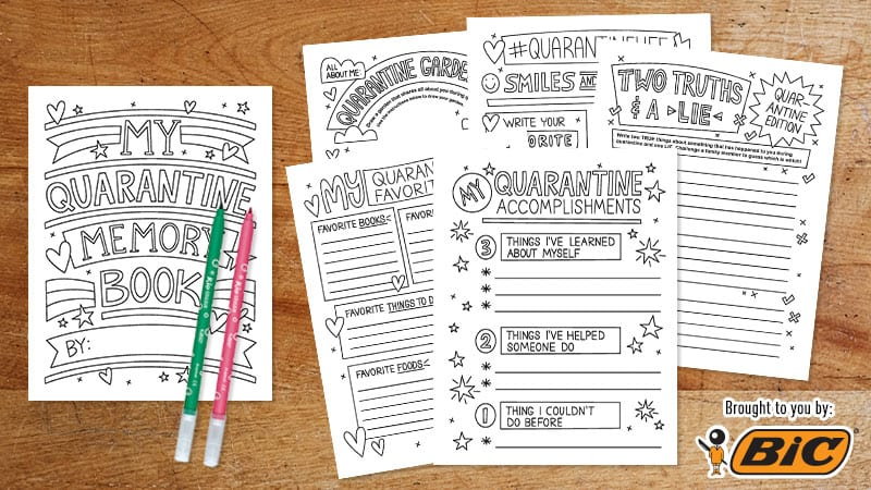 Free Printable Quarantine Memory Book