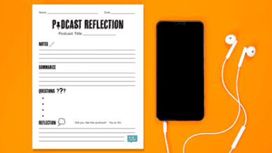 Free Podcast Reflection Printable Worksheet - WeAreTeachers
