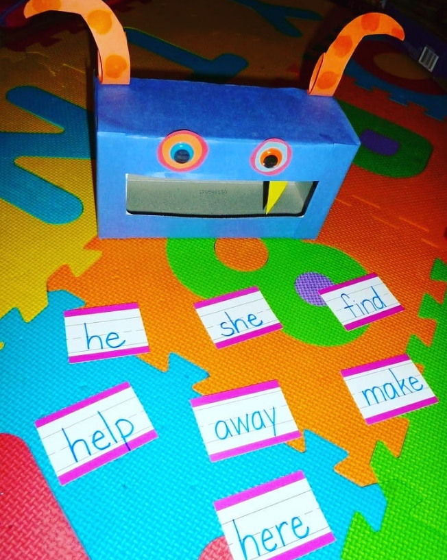 Feed A Word Monster sight word activities