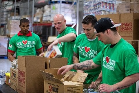 Feeding America workers