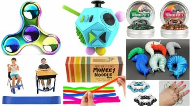 Collage of Best Fidget Toys for the Classroom
