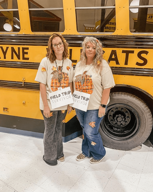 Field Trip Survivors costume for teachers