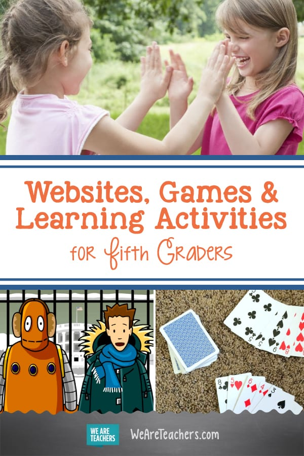 Incredible Websites, Games, and Learning Activities for Fifth Graders