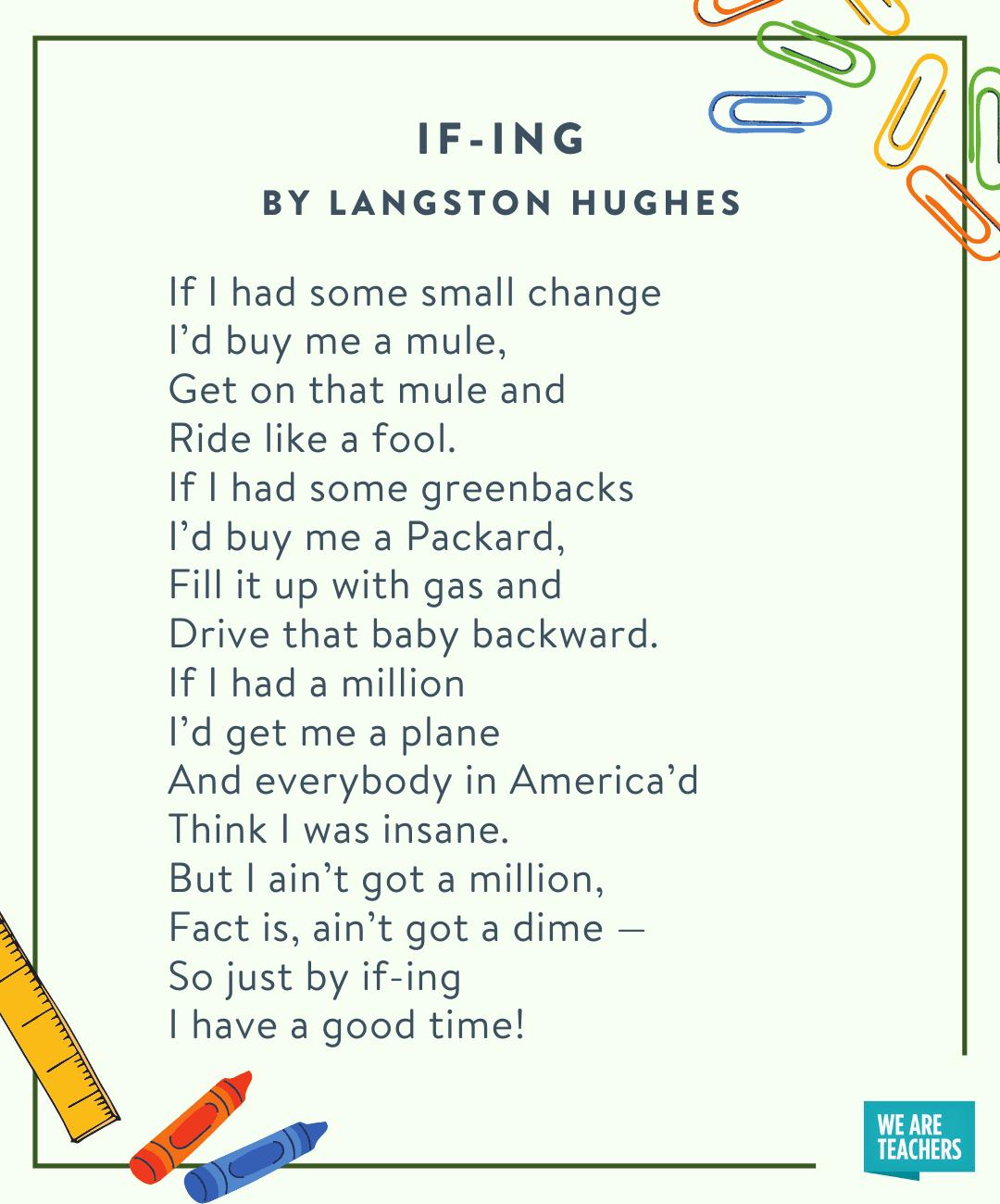 If-Ing by Langston Hughes