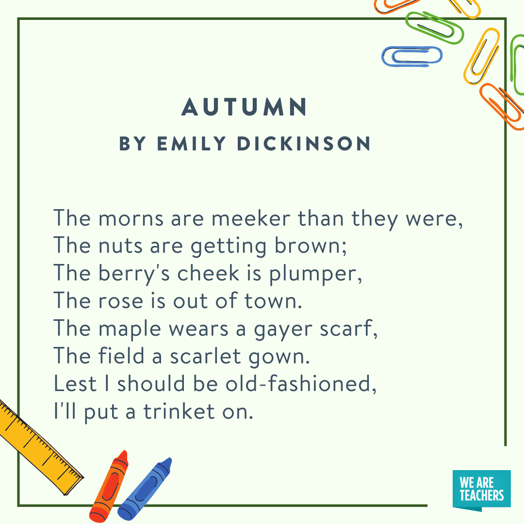 Autumn by Emily Dickinson