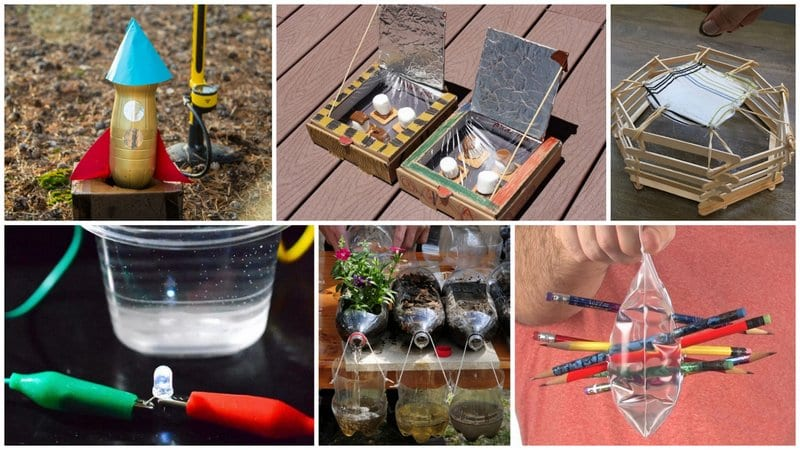 Collage of Fifth Grade Science Experiments and Projects