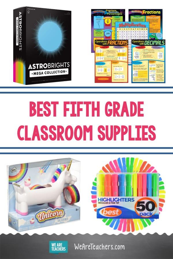 Best fifth grade classroom supplies.