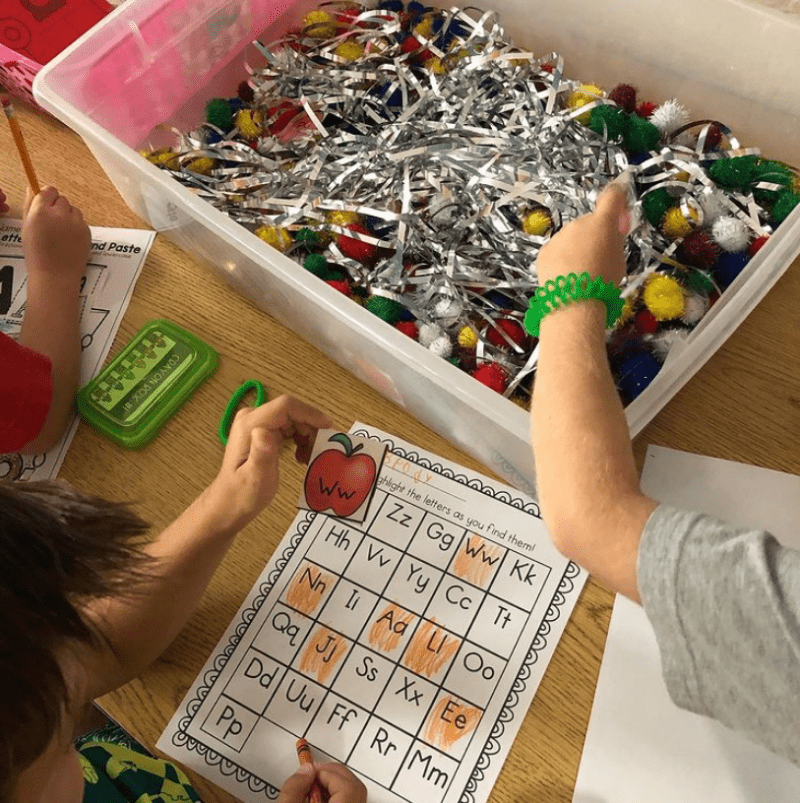 Find Letters and Words Sensory Bin