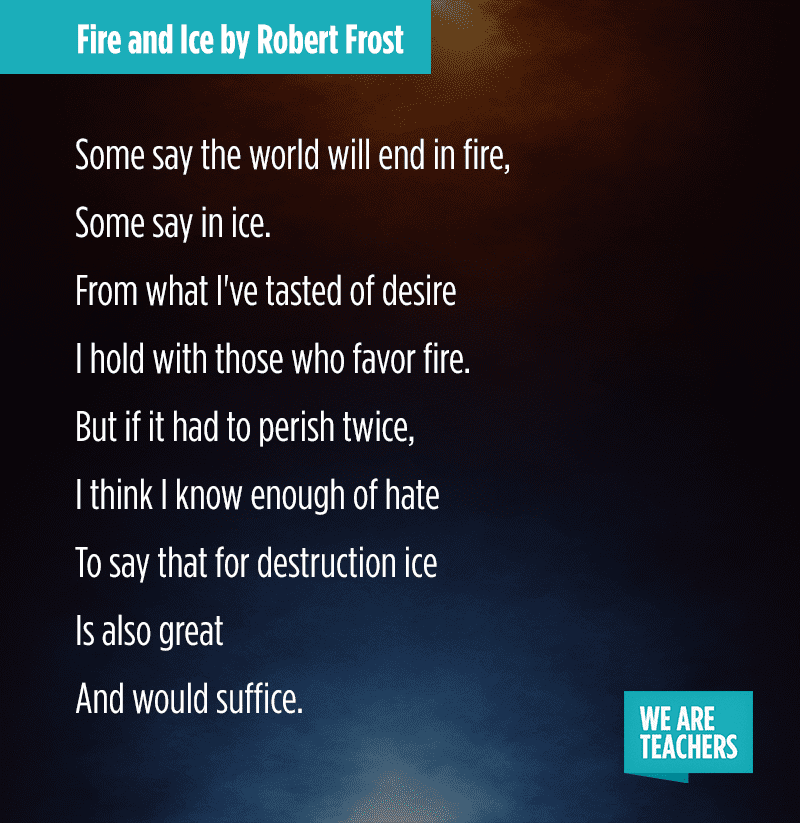 24 Must Share Poems For Middle School And High School Weareteachers