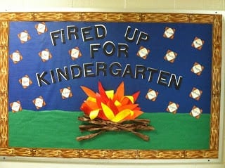Fired up for Kindergarten camping theme classrooms