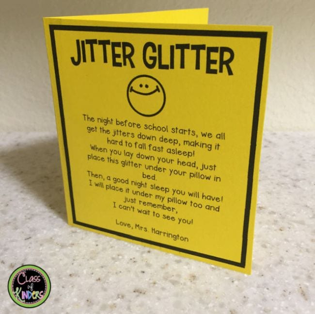 First Day Jitters Activities Class of Kinders