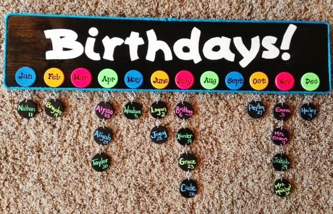 First Day of School Birthday Board