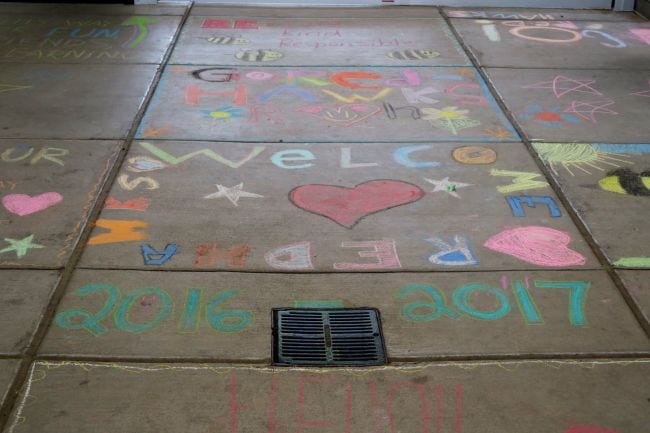 First Day of School Traditions Chalk Art