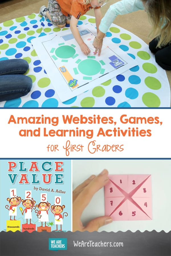 Amazing Websites, Games, and Learning Activities for First Graders