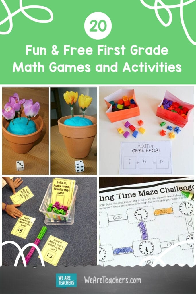20 Fun and Free First Grade Math Games and Activities