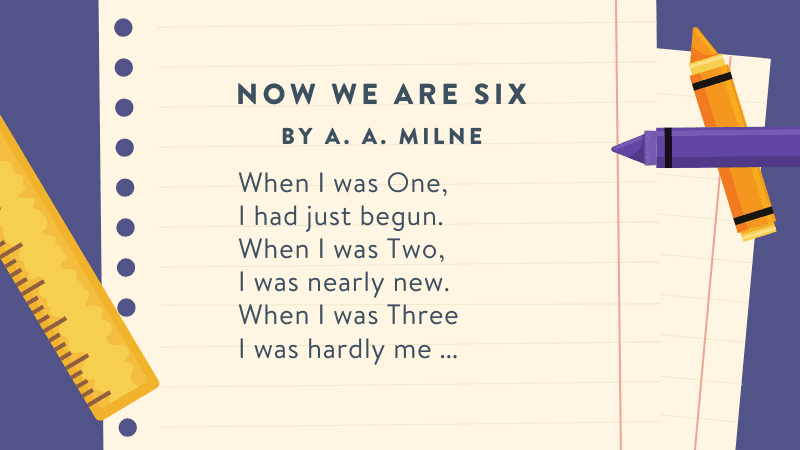How Are We Six -- first grade poems