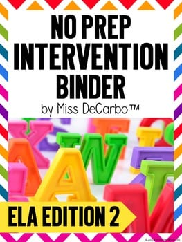 Bright Reading Intervention Binders