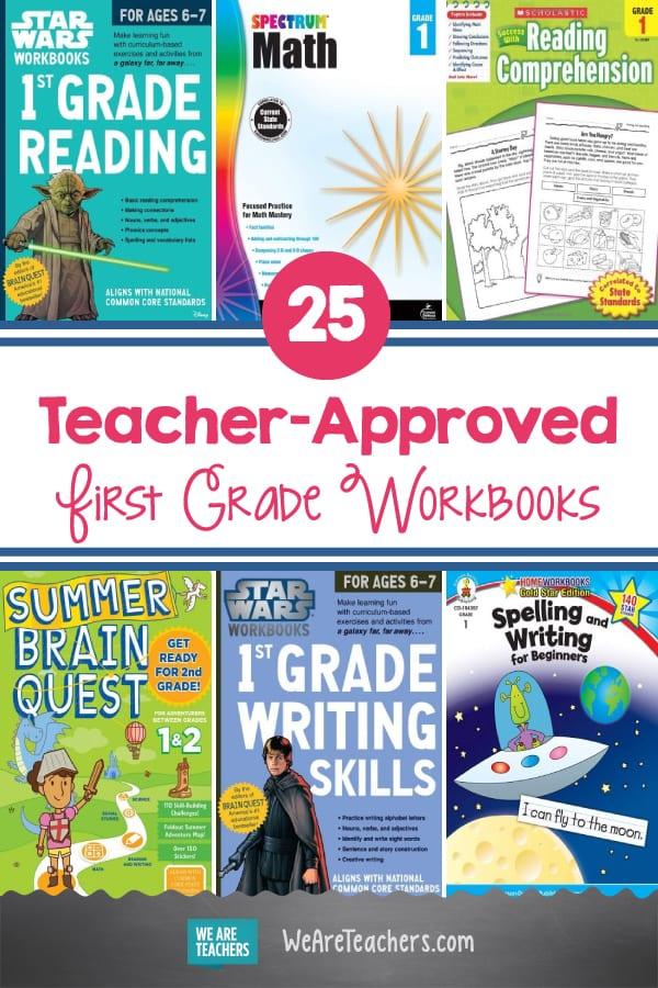 25 Teacher-Approved First Grade Workbooks