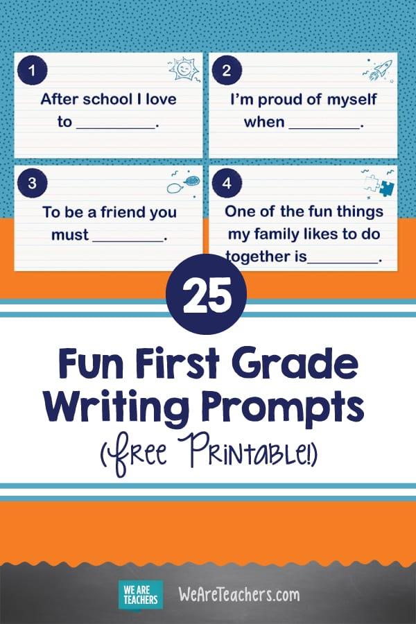 25 Fun First Grade Writing & Storytelling Prompts (Free Printable!)