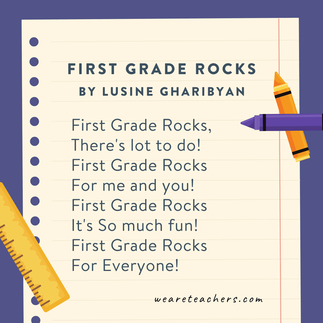 First Grade Rocks by Lusine Gharibyan