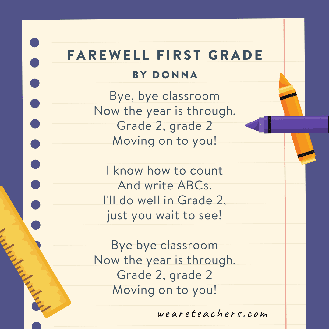 Farewell First Grade by Donna