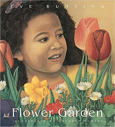 Book Cover for Flower Garden; example of spring books for kids