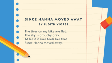 Since Hanna Moved Away by Judith Viorst