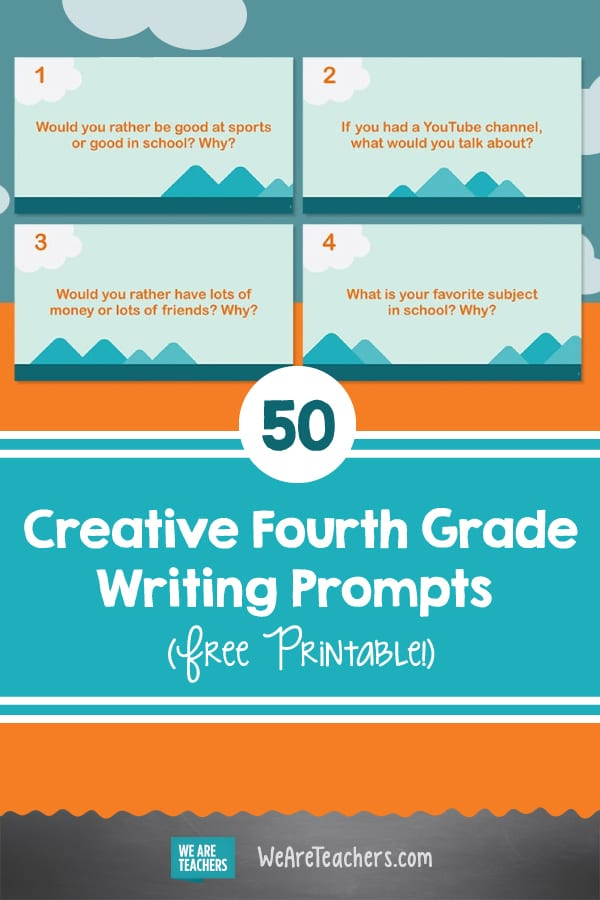 50 Creative Fourth Grade Writing Prompts (Free Printable!)