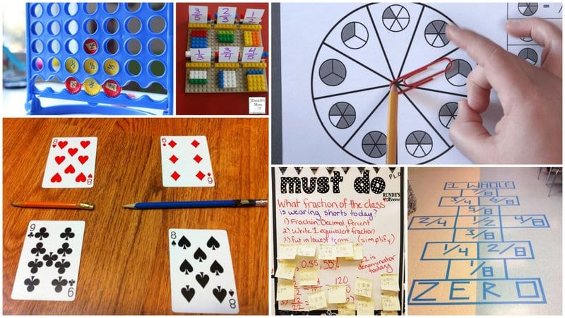Collage of Fraction Games