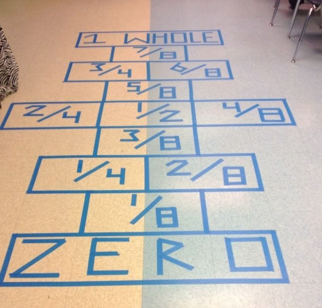 Fraction Games Hopscotch Capturing Classroom Ideas