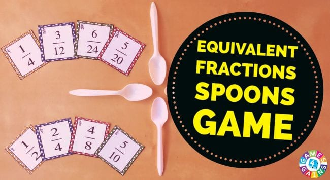 Fraction Games Spoons Games 4 Gains